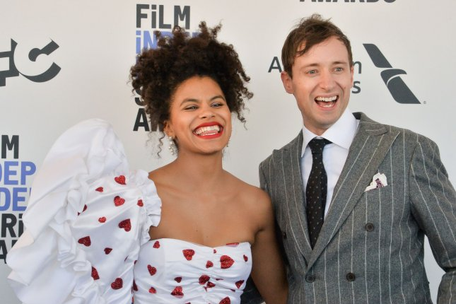 Zazie Beetz (L) and David Rysdahl attend the 35th annual Film Independent Spirit Awards in Santa Monica in 2020. The 2022 edition of the prize presentation is to take place on March 6 -- three weeks before the Oscars. File Photo by Jim Ruymen/UPI
