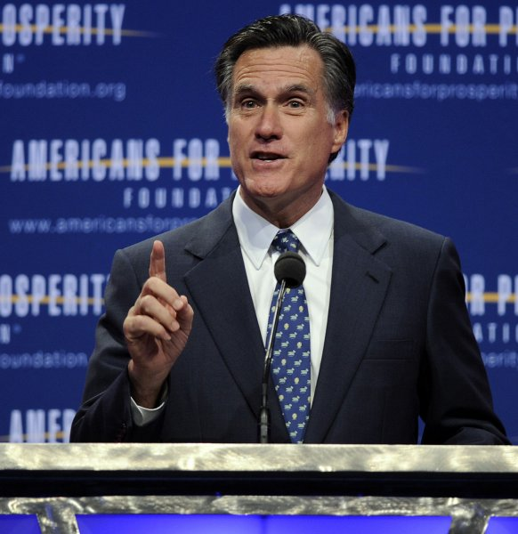 Aides to Republican U.S. presidential hopeful Mitt Romney said polls indicate he is winning a larger share of support among women than men. UPI/Roger L. Wollenberg