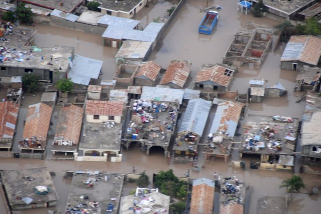 Tropical Storm Hanna caused heavy flooding in Gonaives, Haiti on September 4, 2008. (UPI Photo/Food For The Poor)