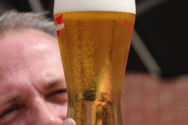 One of the 17 beers served on tap at the Anheuser Busch Biergarten. (Credit/UPI/Bill Greenblatt)