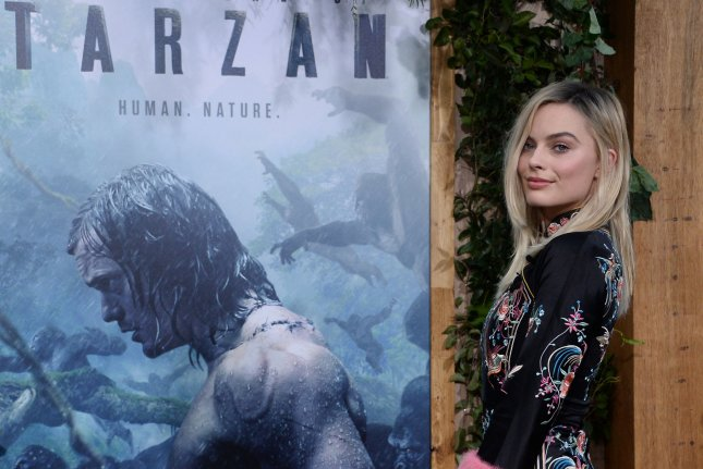 Cast member Margot Robbie attends the premiere of the motion picture adventure film The Legend of Tarzan at the Dolby Theatre in the Hollywood section of Los Angeles on June 27, 2016. Photo by Jim Ruymen/UPI