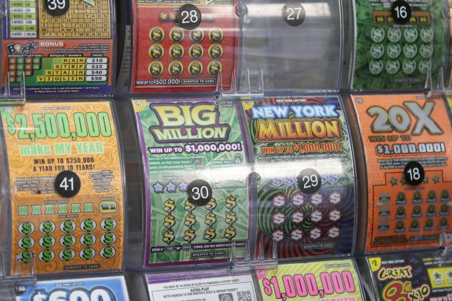 A North Carolina man initially thought he won $1,000 on a lottery ticket, but it turned out is winnings were $150,000. File Photo by John Angelillo/UPI