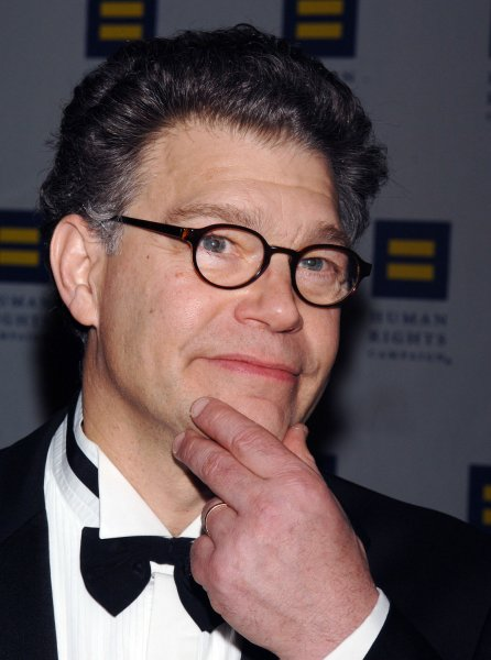 Liberal radio host and former Saturday Night Live star Al Franken announced on his final Air America radio show on February 14, 2007, he will seek the Democratic nomination to run for the U.S. Senate seat now held by Minnesota Republican Norm Coleman. Franken is pictured in Los Angeles on March 25, 2006 at the Human Rights Campaign gala, where he received the Humanitarian Award in this file photo. (UPI Photo/Jim Ruymen/FILE)