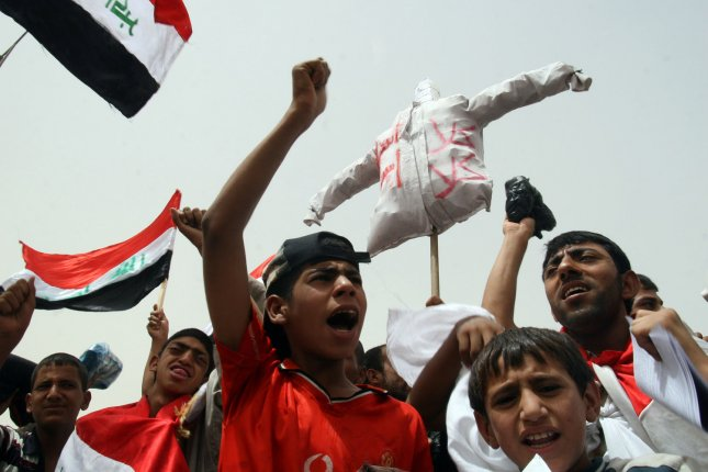 Iraqi protesters, like the ones seen here in 2008, reportedly stormed Bagdhad's Green Zone and Parliament building Saturday after a call for a peaceful demonstration by Shiite cleric Moqtada al-Sadr. Photo by Ali Jasim/UPI