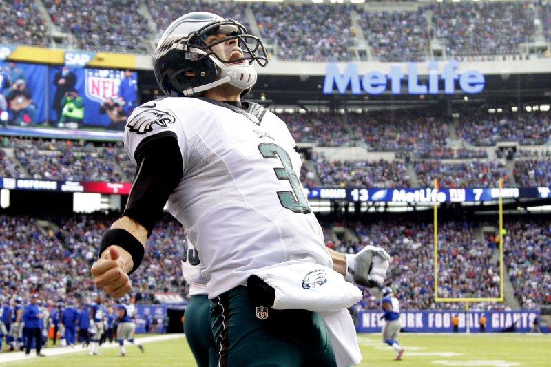 Former Philadelphia Eagles quarterback Mark Sanchez. UPI /John Angelillo