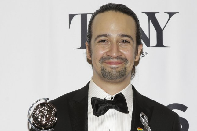 Lin-Manuel Mirand arrives in the press room after winning a Tony Award at the 70th Annual Tony Awards on June 12, 2016 in New York City. Miranda announced that he will be departing from his Tony award winning hit Hamilton in July. Photo by John Angelillo/UPI