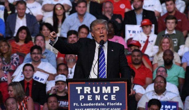 Republican presidential nominee Donald Trump has reshuffled his campaign staff for the second time since June with the promotion of one senior adviser and the hiring of a former Breitbart News executive. Photo by Gary I Rothstein/UPI