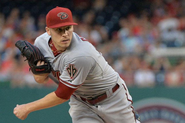 Arizona Diamondbacks starting pitcher Patrick Corbin pitches against the Washington Nationals in the first inning on August 4, 2015 at Nationals Park in Washington, D.C. File photo by Kevin Dietsch/UPI