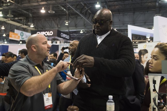 Shaquille O'Neal was named to the Papa John's board of directors Friday. Photo by Molly Riley/UPI