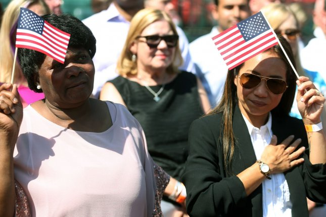 The white share of the U.S. population has been dropping since 1950 and it will continue to go down. File Photo by Bill Greenblatt/UPI