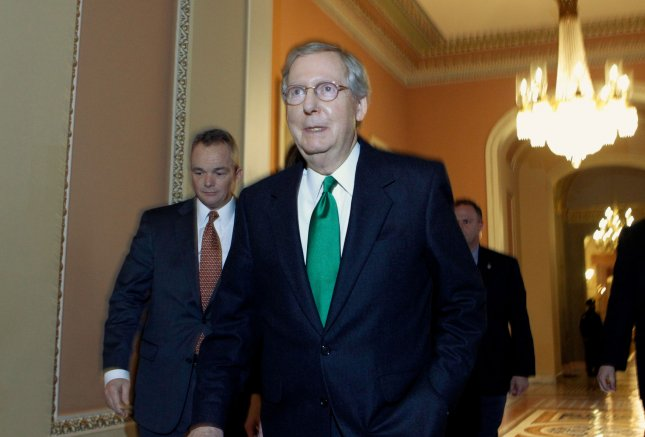 U.S. Senate Minority Leader Mitch McConnell, R-Ky., at the Capitol in Washington, Dec. 31, 2012. UPI/Molly Riley