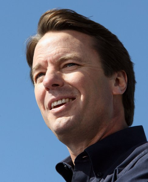 Democrat John Edwards announces his withdraw from the 2008 Presidential race while speaking to supporters in New Orleans' Ninth Ward on January 30, 2008. Edwards began his candidacy in New Orleans and returned to the Hurricane Katrina-damaged Ninth Ward to end his race for the presidency. (UPI Photo/A.J. Sisco)