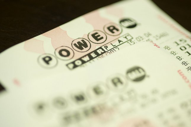 A Powerball lottery ticket. File Photo by Kevin Dietsch/UPI