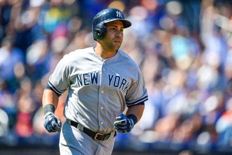 New York Yankees right fielder Carlos Beltran (36). Photo by Rich Kane/UPI