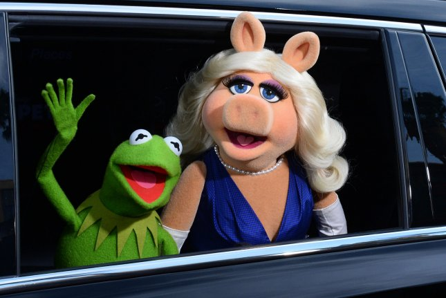 Kermit the Frog and Miss Piggy attend the premiere of the motion picture comedy Muppets Most Wanted in Los Angeles on March 11, 2014. File Photo by Jim Ruymen/UPI