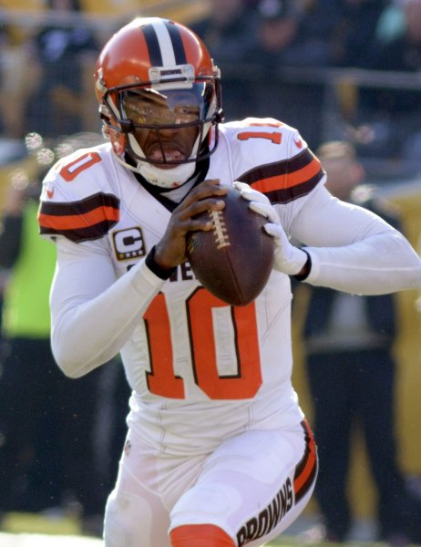 Quarterback Robert Griffin III, formerly of the Cleveland Browns and Washington Redskins, has signed with the Baltimore Ravens. Photo by Archie Carpenter/UPI