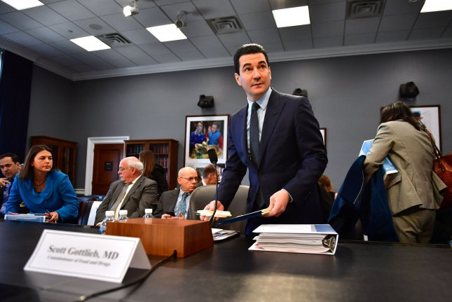 Food and Drug Administration (FDA) Commissioner Scott Gottlieb arrives to testify on the FDA FY2019 Budget during a House Agriculture, Rural Development, Food and Drug Administration, and Related Agencies Subcommittee hearing on Capitol Hill in Washington, D.C. on Tuesday. Photo by Kevin Dietsch/UPI