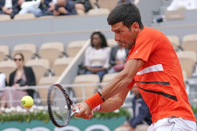 Novak Djokovic is looking to win his 16th Grand Slam and second title at Roland-Garros with a win at the 2019 French Open in Paris. Photo by David Silpa/UPI