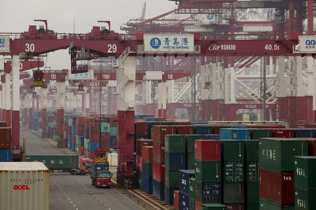 The coronavirus has dramatically slowed trade with China, as ports are backed up and workers are staying home. File photo by Stephen Shaver/UPI