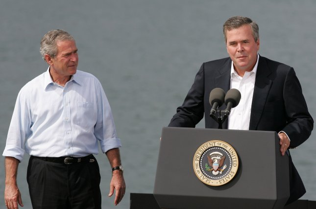 Former President George W. Bush says there's a 50-50 shot his brother Jeb runs for president in 2016.. (UPI Photo/Ralph Notaro)