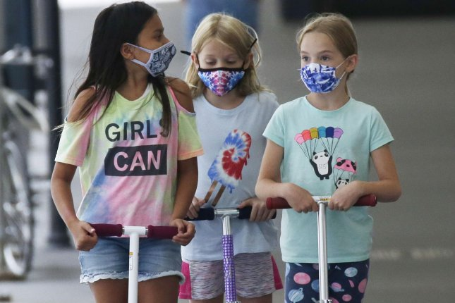 Young schoolchildren appear to be at low risk for COVID-19 and for spreading the virus, even when attending class in person, a new study has found. File Photo by John Angelillo/UPI