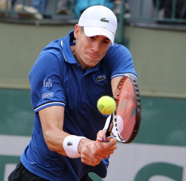 John Isner, shown at last year's French Open, won two of the three tiebreakers Thursday in taking a win in the quarterfinals of the ATP's Heineken Open in New Zealand. UPI/David Silpa