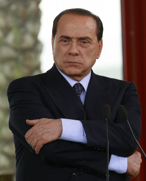 Italian Prime Minister Silvio Berlusconi on April 18, 2008. (UPI Photo/Anatoli Zhdanov)