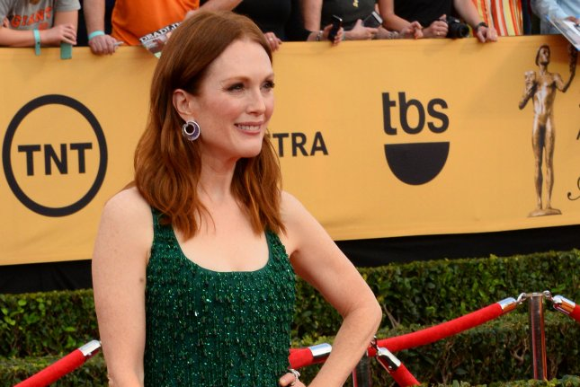 Acctress Julianne Moore arrives for the 21st annual SAG Awards held at the Shrine Auditorium in Los Angeles on January 25, 2015. The Screen Actors Guild Awards will be broadcast live on TNT and TBS. Photo by Jim Ruymen/UPI