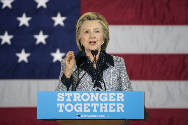 Hillary Clinton speaks at a campaign rally in Pittsburgh last month. On Wednesday, the Democratic presumptive presidential nominee traveled to Springfield, Ill., to deliver a speech on race relations in America at the same site where Abraham Lincoln made his famous House Divided speech assailing slavery. Photo by Kevin Dietsch/UPI
