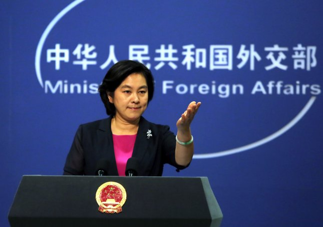 Chinese Foreign Ministry spokesman Hua Chunying reinforced China's commitment to the Paris climate agreement on Thursday, in Beijing hours before U.S. President Donald Trump is scheduled to reveal whether the United States will withdraw from the 2015 accord. Photo by Stephen Shaver/UPI
