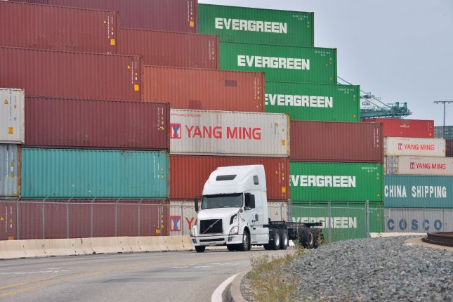 The U.S. trade war with China could slow down the global economy to levels not seen since the recession a decade ago. Photo by Jim Ruymen/UPI