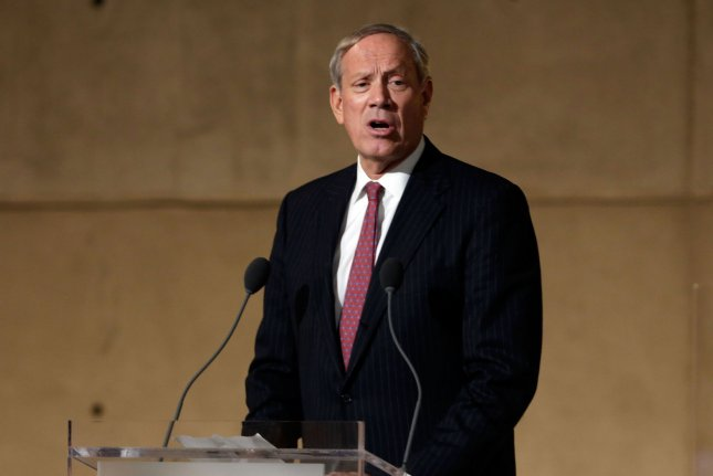 Former New York Gov. George Pataki speaks during the dedication ceremony in Foundation Hall, of the National September 11 Memorial Museum, in New York, Thursday, May 15, 2014. File Photo by UPI/Richard Drew