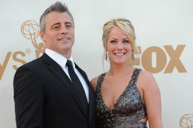 Matt LeBlanc (L) and Andrea Anders arrive at the 63rd Primetime Emmy Awards in Los Angeles on September 18, 2011. File Photo by Jayne Kamin Oncea/UPI