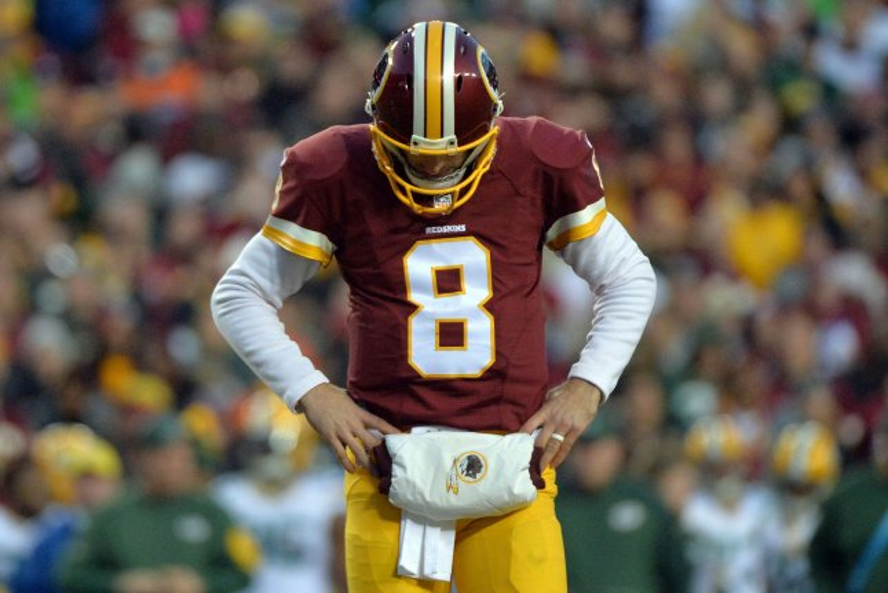 Washington Redskins quarterback Kirk Cousins (8). Photo by Kevin Dietsch/UPI