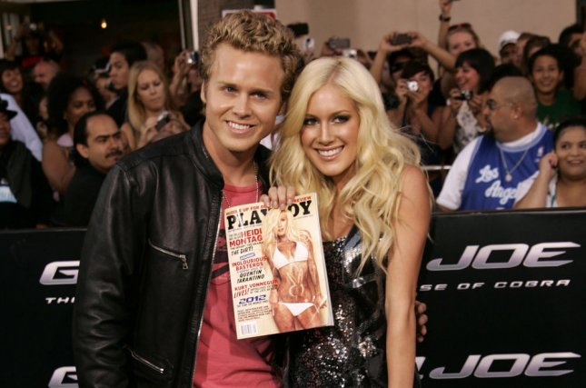 Heidi Montag (R) and Spencer Pratt attend the Los Angeles premiere of G.I. Joe: The Rise of Cobra on August 6, 2009. Montag showed off her growing belly in new photos over the weekend. File Photo by Jonathan Alcorn/UPI