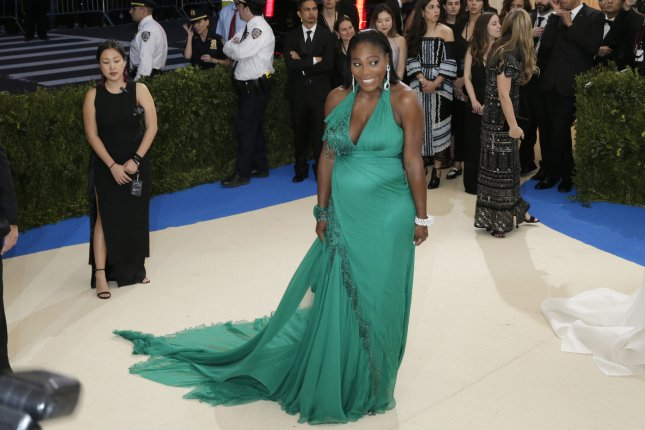 Serena Williams arrives on the red carpet at the Costume Institute Benefit at The Metropolitan Museum of Art celebrating the opening of Rei Kawakubo/Comme des Garcons: Art of the In-Between in New York City on May 1, 2017. File photo by John Angelillo/UPI