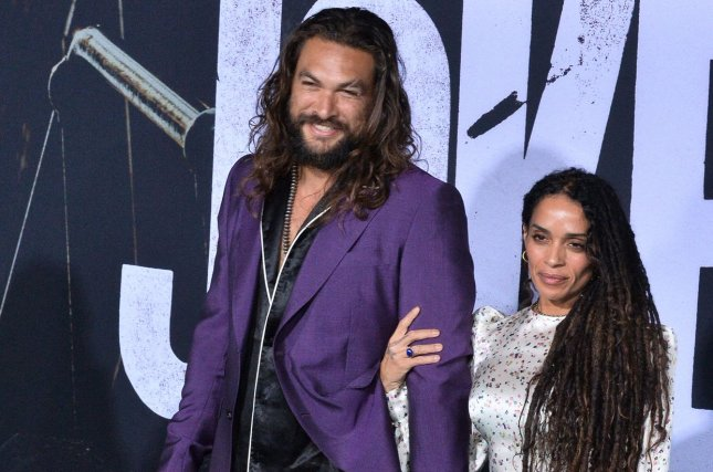Jason Momoa (L), pictured with Lisa Bonet, teased the Aquaman sequel at the premiere of his Apple TV+ series, See. File Photo by Jim Ruymen/UPI