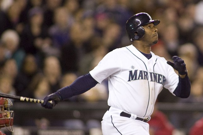 Former Seattle Mariners star Ken Griffey Jr. finished his MLB career with 630 home runs and 2,781 hits. File Photo by Jim Bryant/UPI