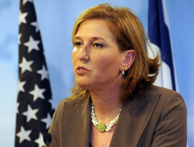 U.S. Secretary of State Hillary Clinton, not seen, and Israeli Foreign Minister and Kadima leader Tzipi Livni hold a joint press conference in Jerusalem, March 3, 2009. (UPI Photo/Debbie Hill)