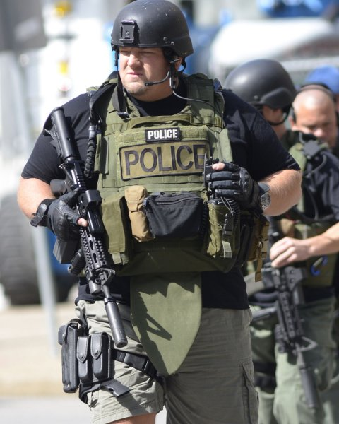 Pittsburgh police SWAT team members pictured in 2012. (File/UPI/Archie Carpenter)