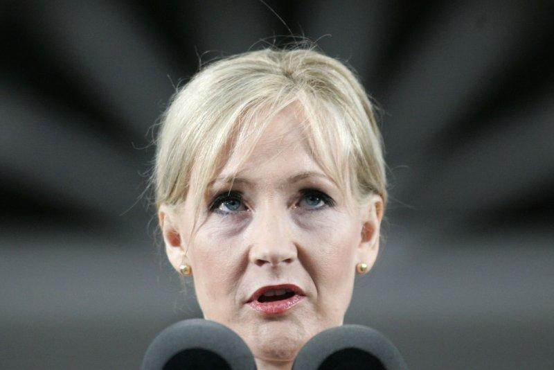 Author J.K. Rowling. (UPI Photo/Matthew Healey)