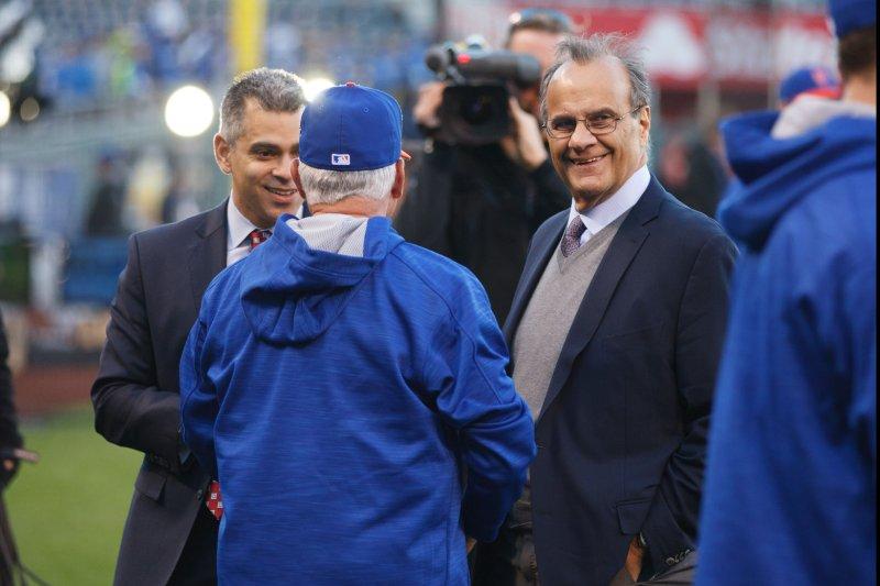 Chief baseball officer Joe Torre. UPI/Jeff Moffett