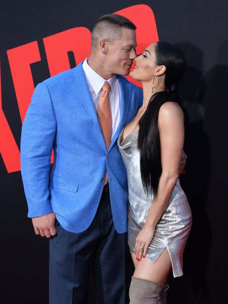 John Cena and Nikki Bella -- seen at the premiere of Blockers in Los Angeles on April 3 -- say they have broken up. Photo by Jim Ruymen/UPI