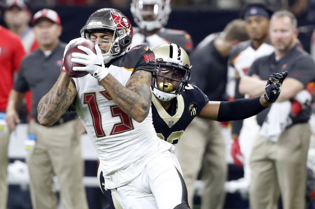 Tampa Bay Buccaneers wide receiver Mike Evans (13) had a career-high 1,524 yards in 16 games last season. He could have even better offensive production under new coach Bruce Arians, a quarterback guru. File Photo by AJ Sisco/UPI