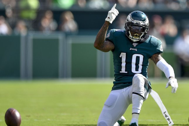 Philadelphia Eagles wide receiver DeSean Jackson played only 11 snaps in the Eagles' loss to the Atlanta Falcons on Sunday night. File Photo by Derik Hamilton/UPI