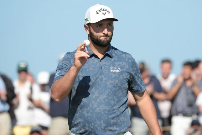 Spain's Olympic committee said it will not replace Jon Rahm, who tested positive for COVID-19, on its men's Olympic golf team. File Photo by Hugo Philpott/UPI