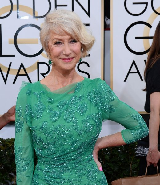 Actress Helen Mirren arrives for the 71st annual Golden Globe Awards at the Beverly Hilton Hotel in Beverly Hills, California on January 12, 2014. UPI/Jim Ruymen