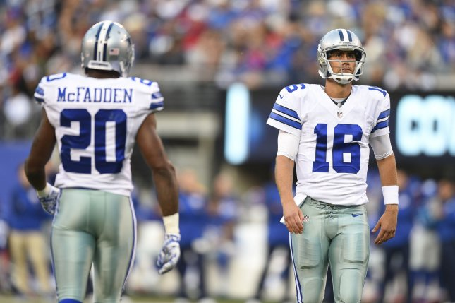 Dallas Cowboys quarterback Matt Cassel will start for the team this Sunday when they face the Seattle Seahawks. Photo Rich Kane/UPI