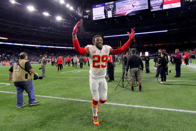 Former Kansas City Chiefs strong safety Eric Berry (29) will visit with the Dallas Cowboys on Tuesday. The Cowboys have a need in the secondary. File Photo by Erik Williams/UPI