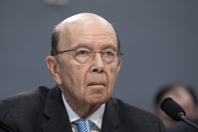 Commerce Secretary Wilbur Ross, shown testifying at a House subcommittee hearing March 10, announced Wednesday it was blacklisting 24 Chinese companies because of their work in the South China Sea. Photo by Tasos Katopodis/UPI